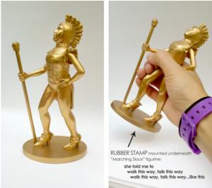 Susan Lee Chun - Marching Sioux figurine