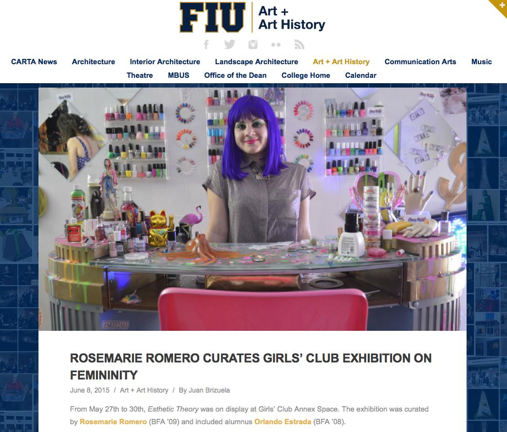 FIU Carta-RosemarieRomeroCuratesGirlsClub-June8,2015