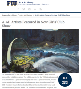 FIUArts Blog-A+AH Artists Featured in New GC Show-Nov2013