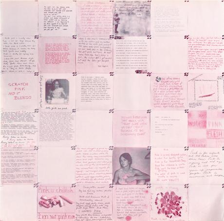 Shiela Levrant de Bretteville, Pink, 1975