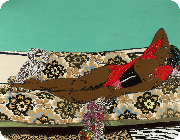 Mickalene Thomas, Portrait of Mama Bush I