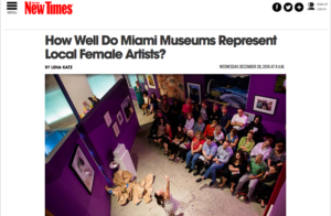 NewTimesMiami-HowWellDoMiamiMuseums RepLocalFemaleArtists-2016