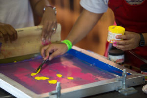 Screen printing demo at SPF