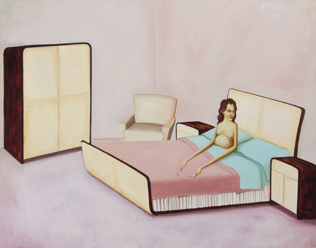 Sandra Scolnik, Self-Portrait in Bedroom Set, 2003